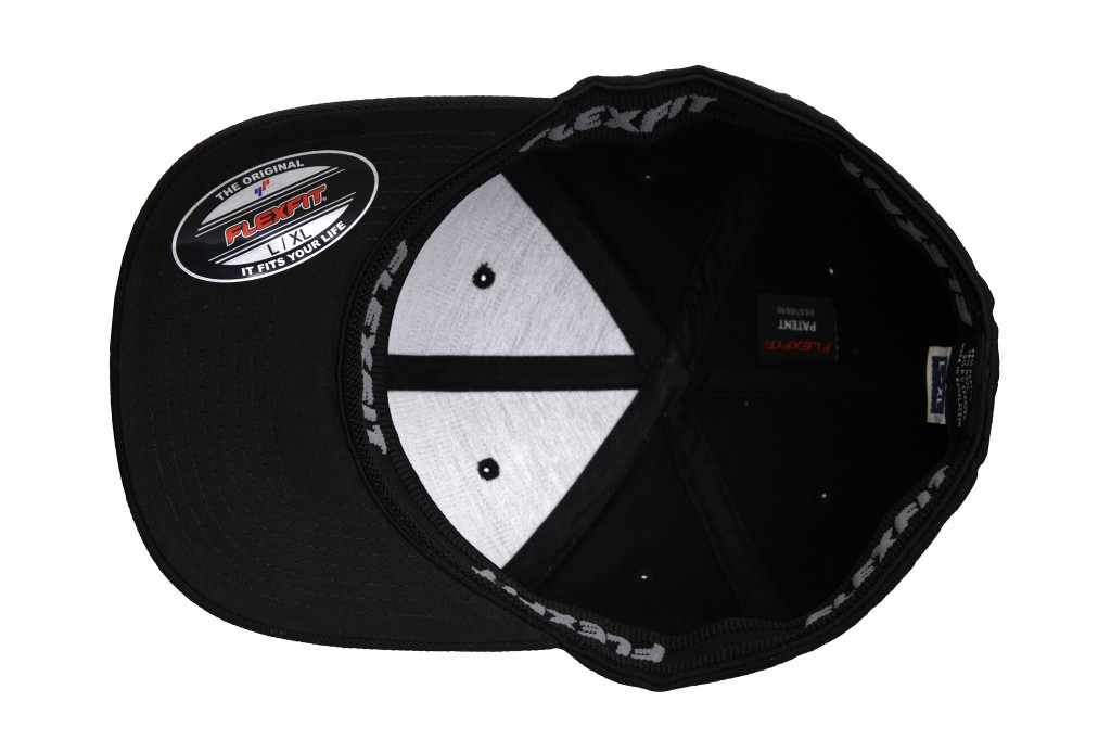 cfac2a969 ... Baseball Cap Inside Bottom View – THE BREAKDANCER – No Top Button – Curved  Peak Flexfit Fitted ...