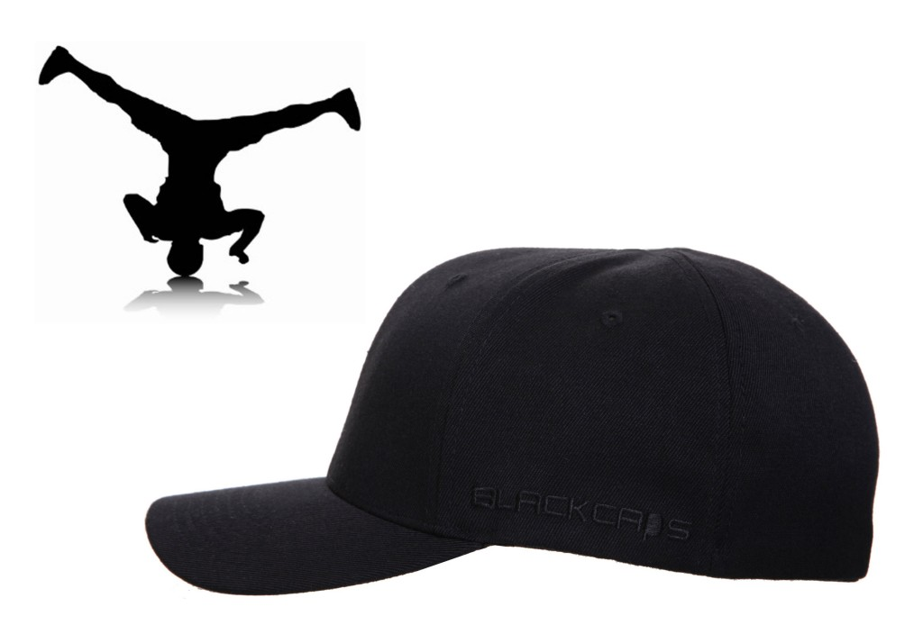 THE BREAKDANCER - No Top Button - Curved Peak Flexfit Fitted Baseball Cap